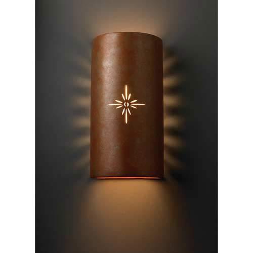 Sun Dagger Rust Sunburst Wall Sconce