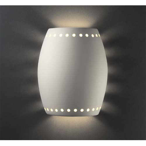 Justice Design Group Pillowed Cylinder Necklace Cutout Wall Sconce