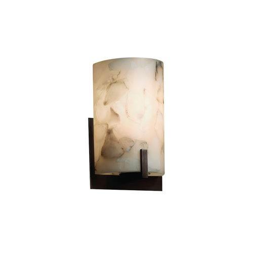 Alabaster Rocks! Dark Bronze 5.5-Inch LED Wall Sconce