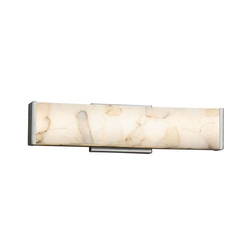 Alabaster Rocks! - Latitude Brushed Nickel 19-Inch LED Bath Vanity with Cream Shaved Alabaster Rocks