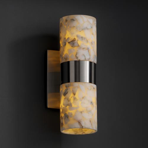 Justice Design Group Alabster Rocks! Dakota Up and Downlight Two-Light Sconce