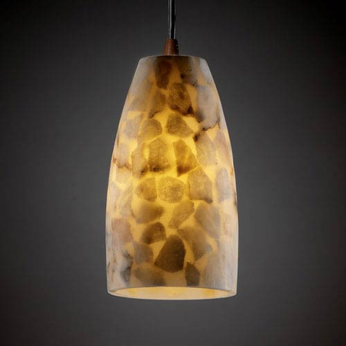 Alabaster Rocks! Modular Dark Bronze Mini Pendant
