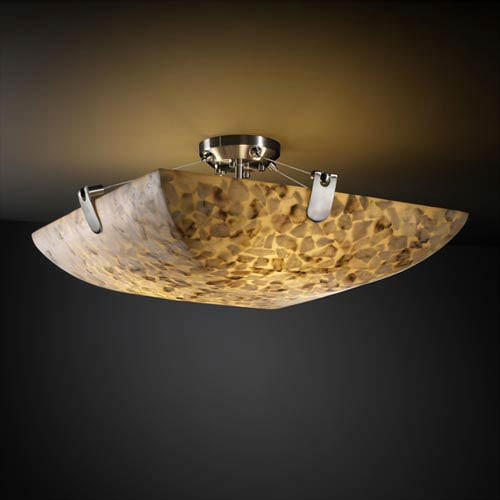 Alabster Rocks! 18-Inch 3000 Lumen LED Semi-Flush Mount with U-Clips