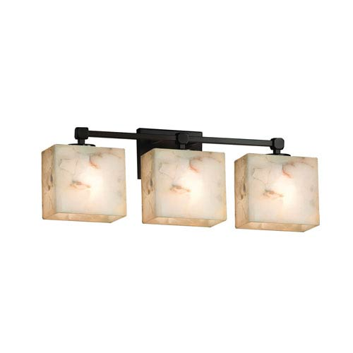 Alabaster Rocks! Dark Bronze 23.5-Inch LED Bath Bar
