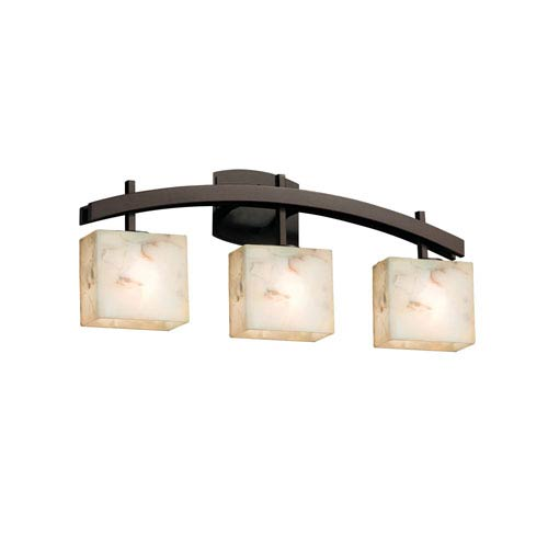 dark bronze 25 inch three light bath bar - Bathroom Ceiling Lights