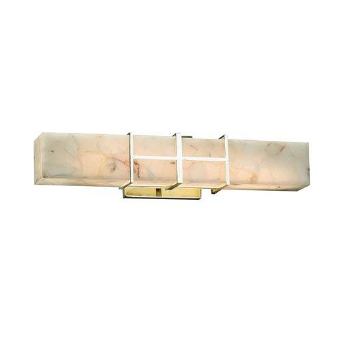 Alabaster Rocks!  Polished Chrome 21.5-Inch LED Bath Bar