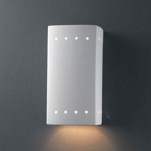 Ambiance Bisque Small Rectangle With Perfs Outdoor Wall Sconce