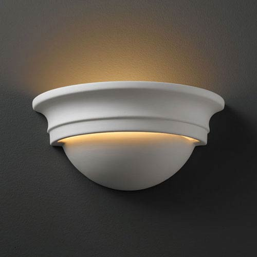 Justice Design Group Ambiance Bisque Small Cyma Bathroom Wall Sconce