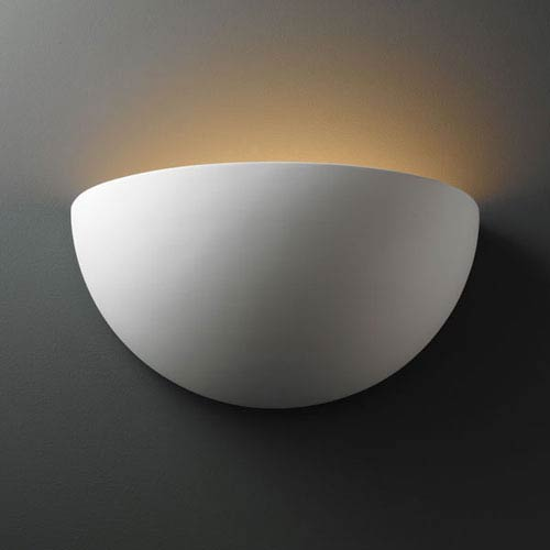 Justice Design Group Ambiance Bisque Really Big Quarter Sphere Two-Light Bathroom Wall Sconce