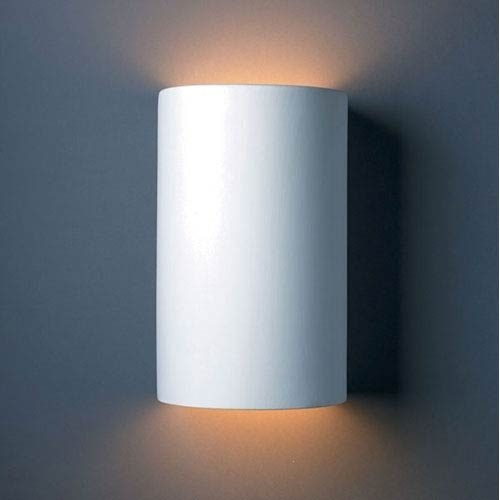 Ambiance Bisque Large Cylinder Outdoor Wall Sconce