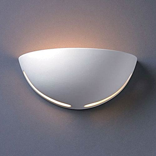 Justice Design Group Ambiance Gloss White Small Cosmos Bathroom Wall Sconce