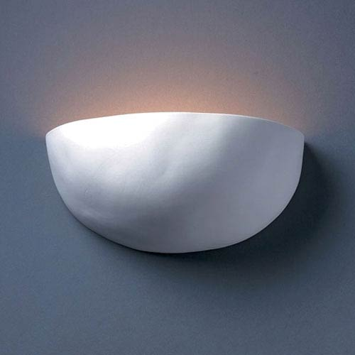 Justice Design Group Ambiance Bisque Zia Bathroom Wall Sconce