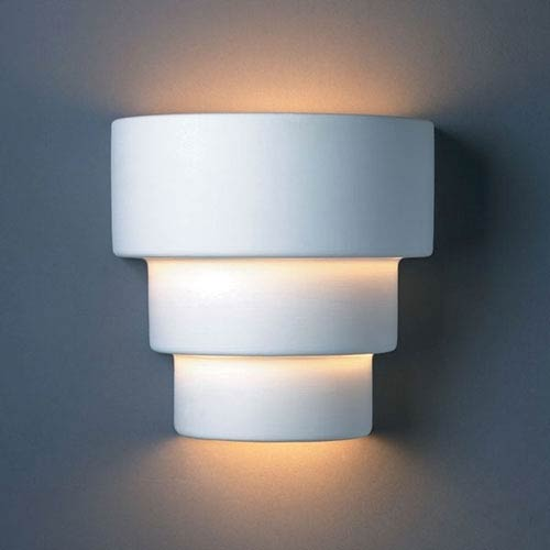 Justice Design Group Ambiance Bisque Small Terrace Two-Light Bathroom Wall Sconce