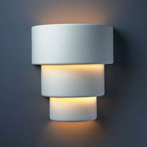 Justice Design Group Ambiance Bisque Large Terrace Two-Light Bathroom Wall Sconce