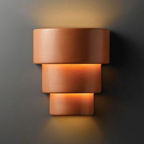 Ambiance Terra Cotta Large Terrace Two-Light Bathroom Wall Sconce