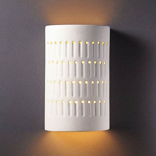 Ambiance Bisque Small Cactus Cylinder Outdoor Wall Sconce