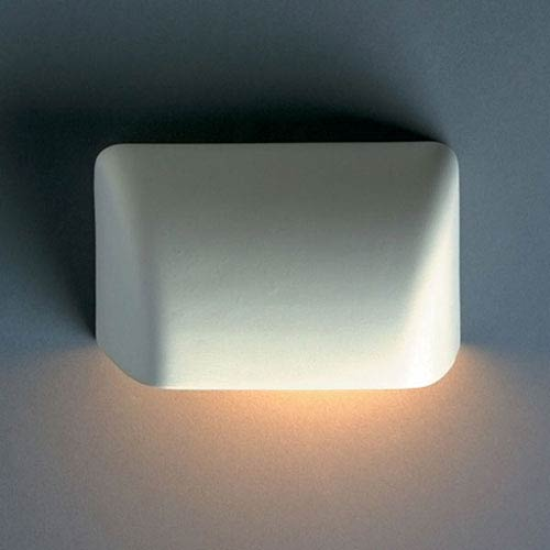 Justice Design Group Ambiance Bisque Small Scoop Outdoor Wall Sconce