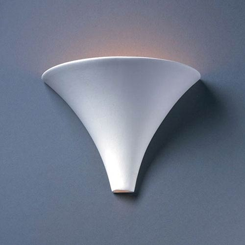 Justice Design Group Ambiance Bisque Flare Bathroom Wall Sconce