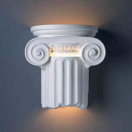 Ambiance Bisque Ionic Column Outdoor Wall Sconce