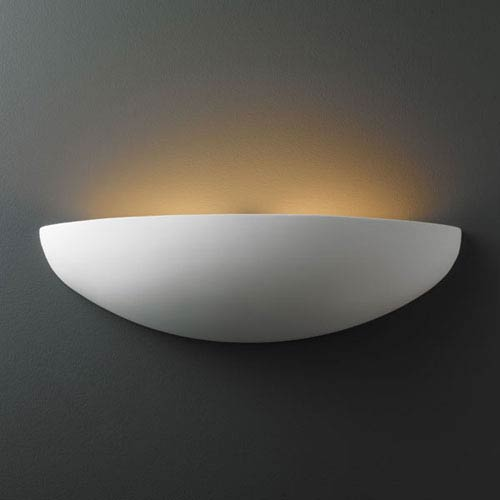 Justice Design Group Ambiance Bisque Canoe Two-Light Bathroom Wall Sconce