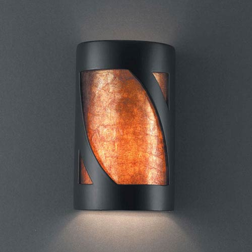 Ambiance Carbon Matte Black Large Lantern Two-Light Bathroom Wall Sconce