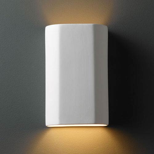 Ambiance Bisque Cylinder Bathroom Wall Sconce