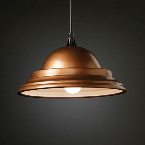 Justice Design Group Radiance Hammered Brass Classic Pendant
