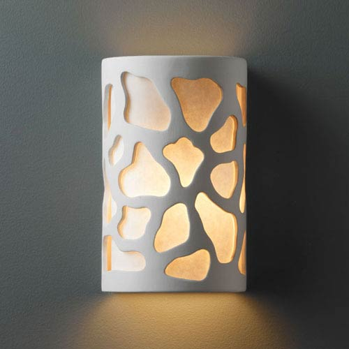 Ambiance Bisque Large Cobblestones Two-Light Bathroom Wall Sconce