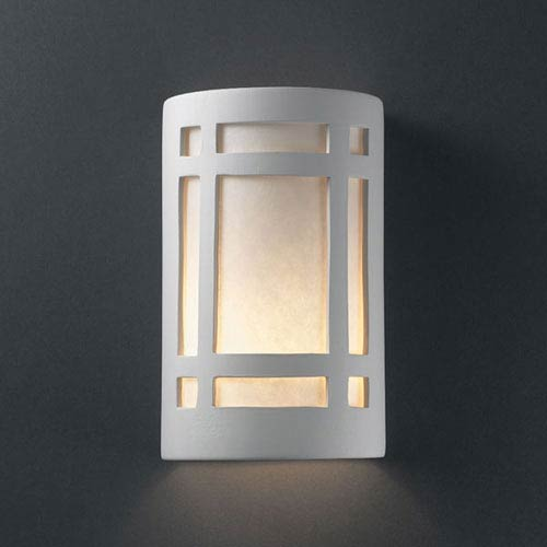 Ambiance Bisque Small Craftsman Window Outdoor Wall Sconce