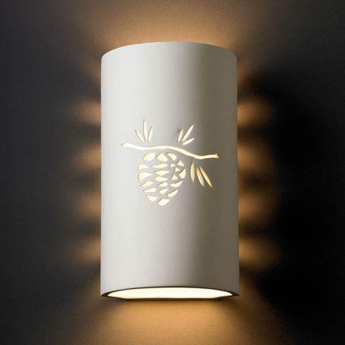Sun Dagger Slate Marble Sun Dagger Large Cylinder Two-Light Bathroom Wall Sconce