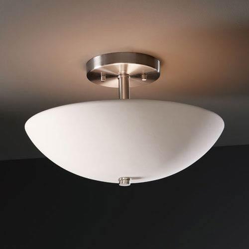 Justice Design Group Radiance Bisque Round Bowl Two-Light Semi-Flush Light