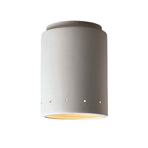 Radiance Antique Patina LED Cylindrical Flush Mount with Perforations