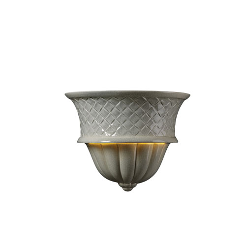 Ambiance Celadon Green Crackle One-Light Capri Wall Sconce