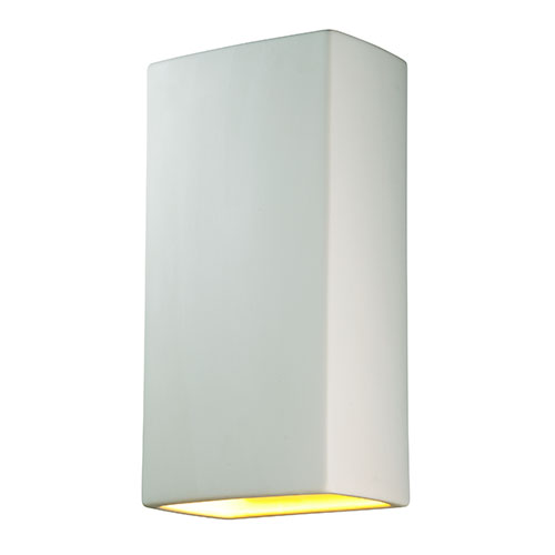 Ambiance Bisque LED Big Rectangular Wall Sconce with Opened Top and Bottom