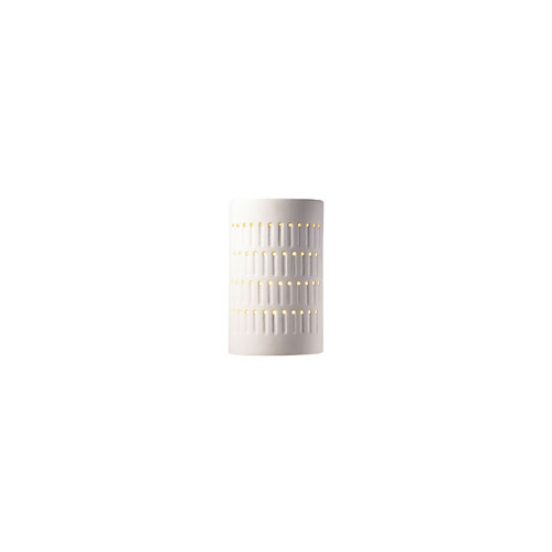 Justice Design Group Ambiance Bisque LED Small Cactus Cylindrical Wall Sconce with Opened Top and Bottom