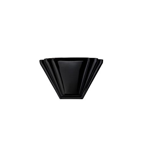Ambiance Gloss Black LED Alas Wall Sconce