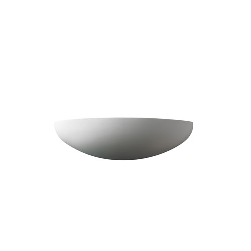 Ambiance Bisque LED Canoe Wall Sconce