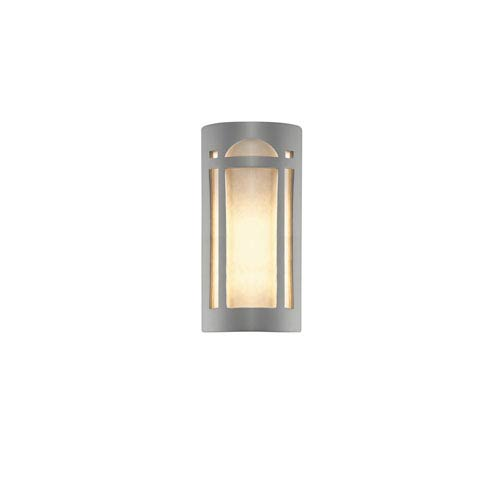 Ambiance Sienna Brown Crackle LED Big Arch Window Outdoor Wall Sconce with White Styrene Shade