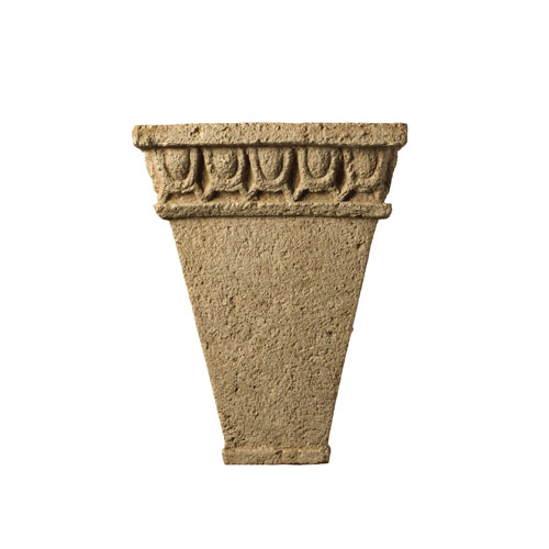 Tuscan Garden Navarro Sand LED Tall Tapered Wall Sconce with Egg and Dart Design