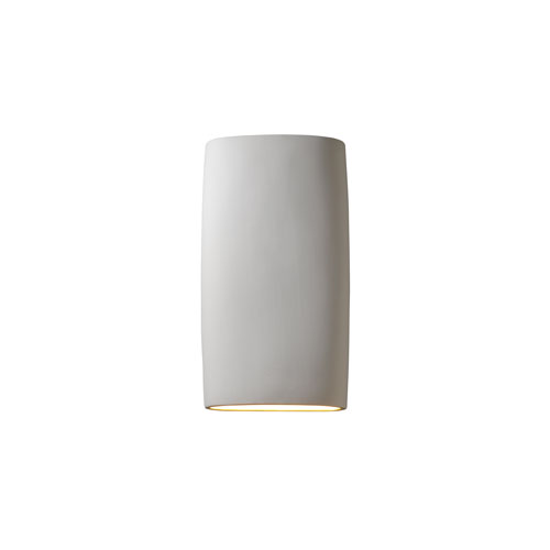 Ambiance Matte White 4-Inch LED Big Cylindrical Wall Sconce with Opened Top and Bottom