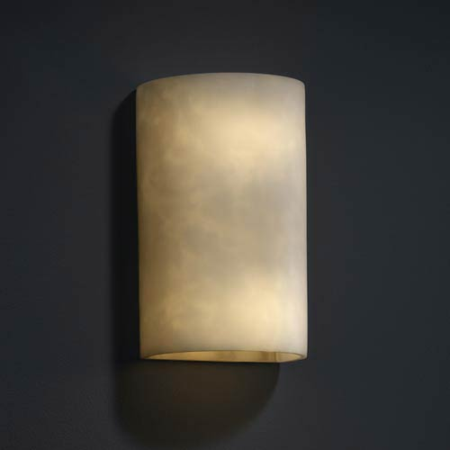 Clouds Large Cylinder Outdoor Wall Light with Open Top and Bottom