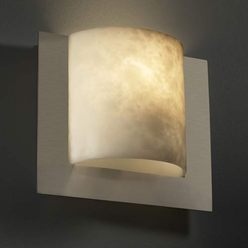 Justice Design Group Framed Square Three-Sided Wall Sconce