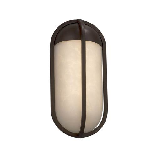 Justice Design Group Clouds - Starboard Dark Bronze LED Outdoor Wall Sconce with Off-White Clouds Resin