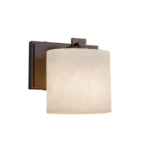 Justice Design Group Clouds - Era Dark Bronze LED Wall Sconce with Off-White Clouds Resin