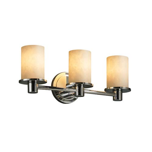 Justice Design Group Clouds Rondo Three-Light Polished Chrome Bath Fixture