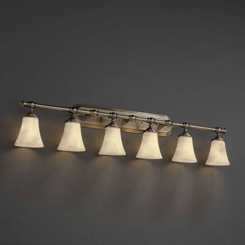 Clouds Tradition Six-Light Antique Brass Bath Fixture