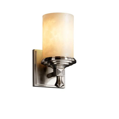 Justice Design Group Clouds Deco Brushed Nickel Wall Sconce