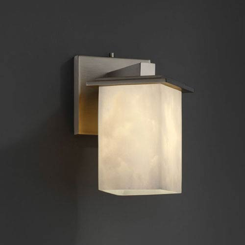Clouds Montana Brushed Nickel Angled Bobeche Wall Sconce