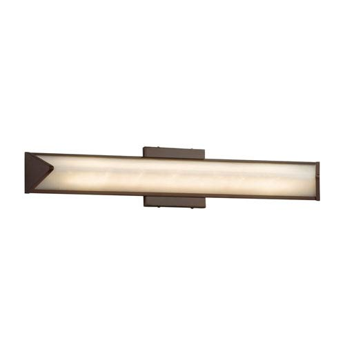 Clouds - Apex Dark Bronze LED Bath Vanity with Off-White Clouds Resin