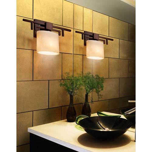 Justice Design Group Clouds Aero Dark Bronze Wall Sconce